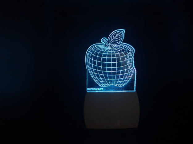 Picture of 3d Acrylic Apple Night Lamp