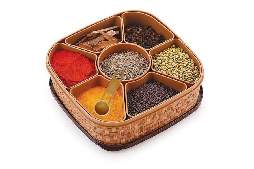 Picture of Masala Rangoli Box Dabba For Keeping Spices