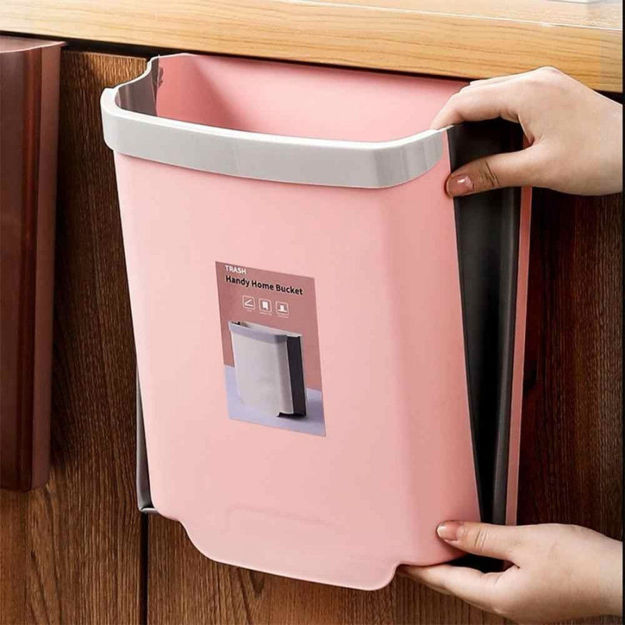 Picture of Kitchen Cabinet Door Hanging Trash Can