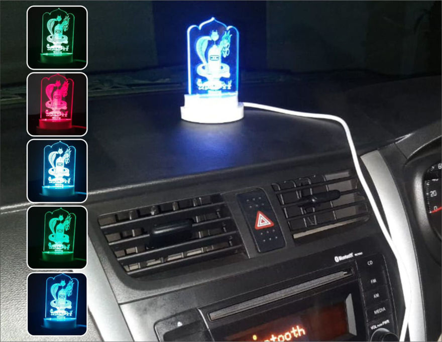 Picture of 3d Acrylic Shivling Car Night Lamp
