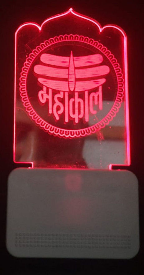 Picture of 3d Acrylic Mahakal Night Lamp