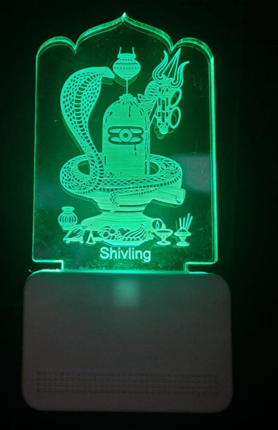 Picture of 3d Acrylic Shivling Night Lamp