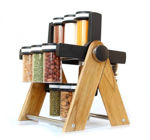Picture of Wooden Wheel Spice Rack 12 Jar
