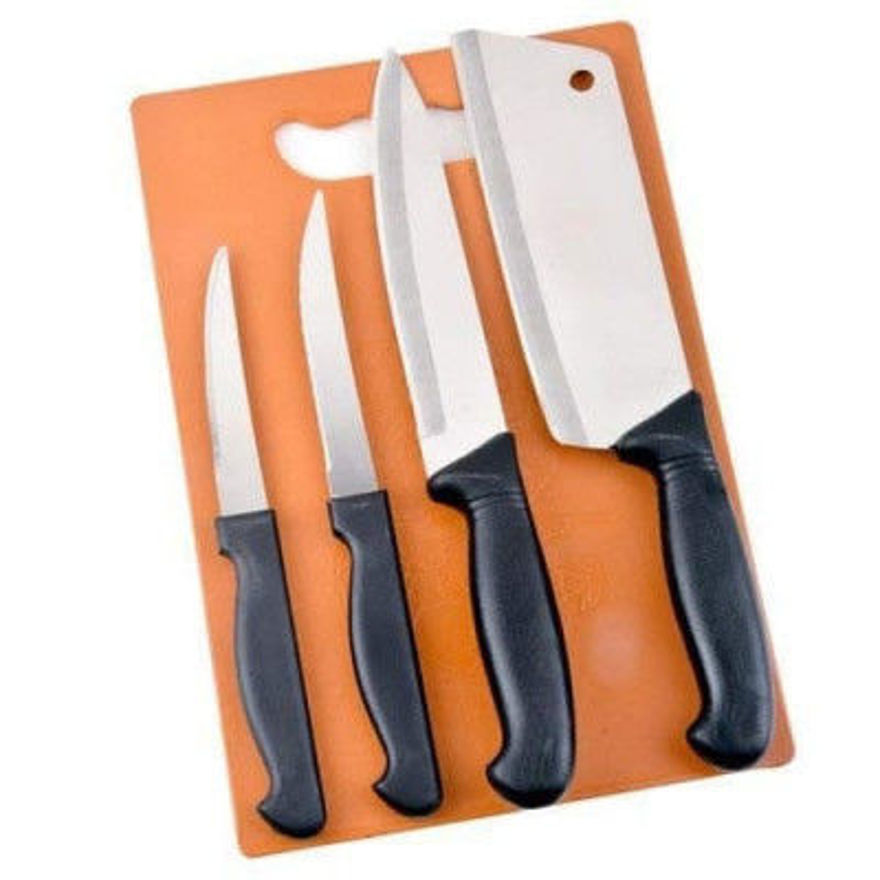 Picture of Stainless Steel Kitchen Knife And Chopping Board Set