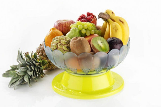 Picture of Plastic Revolving Vegetable And Fruit Basket Bowl