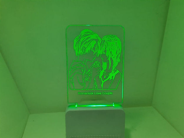 Picture of 3d Acrylic Romantic Couple Night Lamp