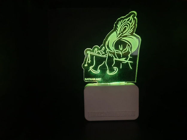 Picture of 3d Acrylic Krishna Shape Night Lamp
