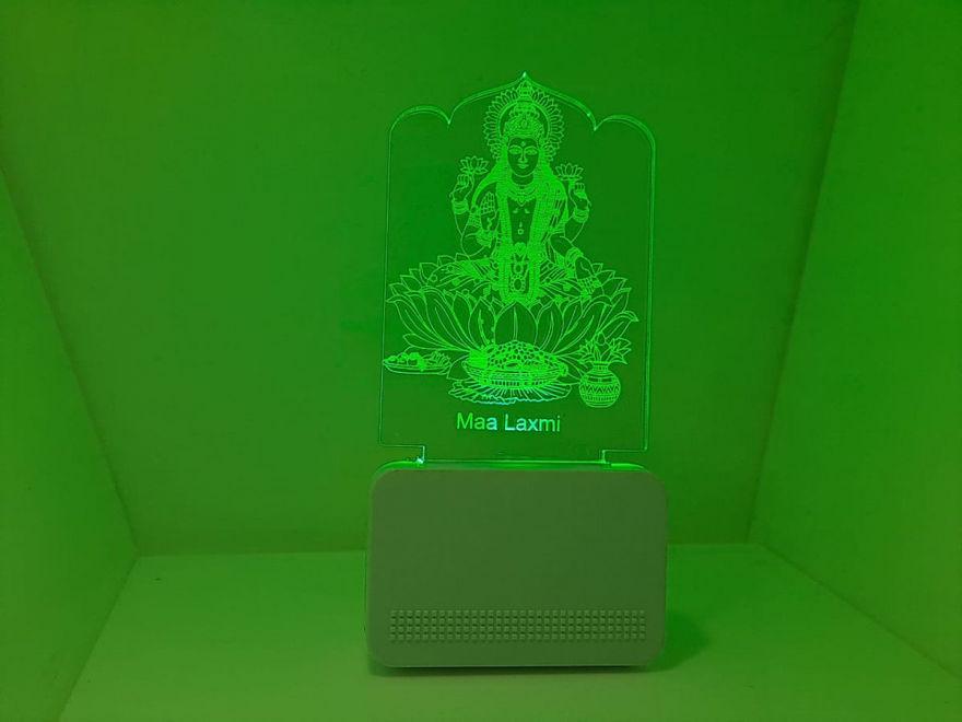 Picture of 3d Acrylic Maa Laxmi Night Lamp