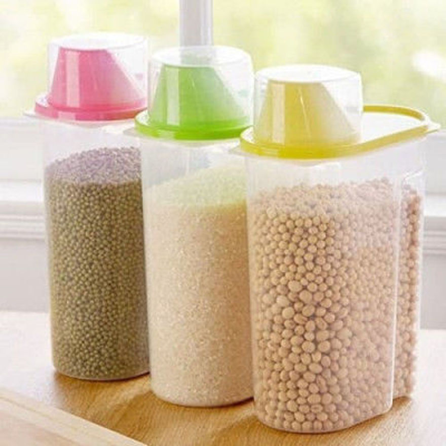 Picture of Cereal Dispenser Jar Storage Container Box With Lid