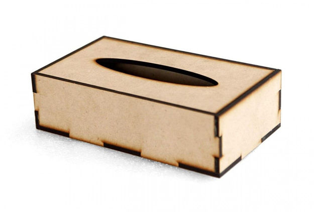 Picture of Wooden Tissue Paper Box
