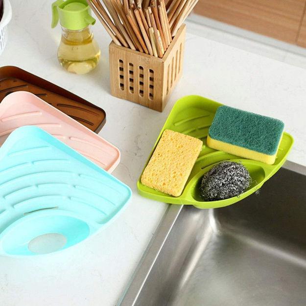 Picture of Kitchen Sink Corner Organizer Wash Basin Triangle