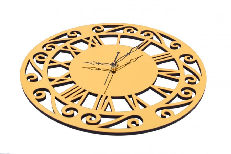 Picture of Acrylic Round Mirror Wall Clock