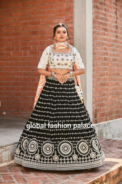 Picture of Black Georgette Lehenga