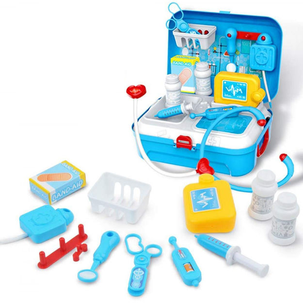 Picture of Doctor Tool Kit for Kids | Doctor Pretend Play Toys with Backpack | Medical Role Play Educational Toy | Doctor Playset Stethoscope Medical Kit | Imagination Play for Kids (Set of 17pcs)