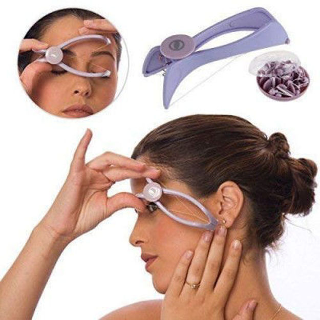 Picture of Silique Eyebrow Face and Body Hair Threading Removal Epilator Tweezer Kit (MultiColor)