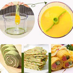Picture of Multipurpose Manual Green Vegetable Dry Fruit and Onion Chopper Quick Cutter Machine Kitchen  (Multicolour)