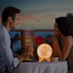 Picture of Color Moon Night Lamp Non-Rechargeable with Stand- 15CM
