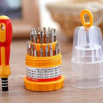 Picture of Jackly 6036 Mini Screwdriver set of 31 in 1 Repairing Interchangeable Precise Screwdriver Tool Set Kit with Magnetic Holder for Home and Laptop (Multicolour)