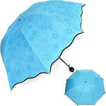 Picture of Fancy With Heavy Desighning Magic Blowsum Umbrella With 3 Folding For Men & Women & Fully Raining Protection Pack Of 1 : Multi Color