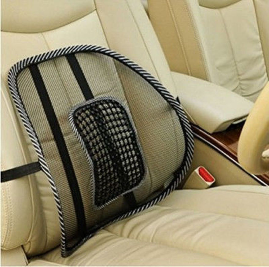 Picture of Acupressure Chair Back Rest Car Seat Lumber Support Lumbar Support Lumbar Support (Black & Clear)