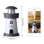 Picture of Lighthouse Cool Mist Humidifier No Noise LED Desktop Nightlight Auto Safety Shut-Off Humidifier for Home Bedroom Car Office