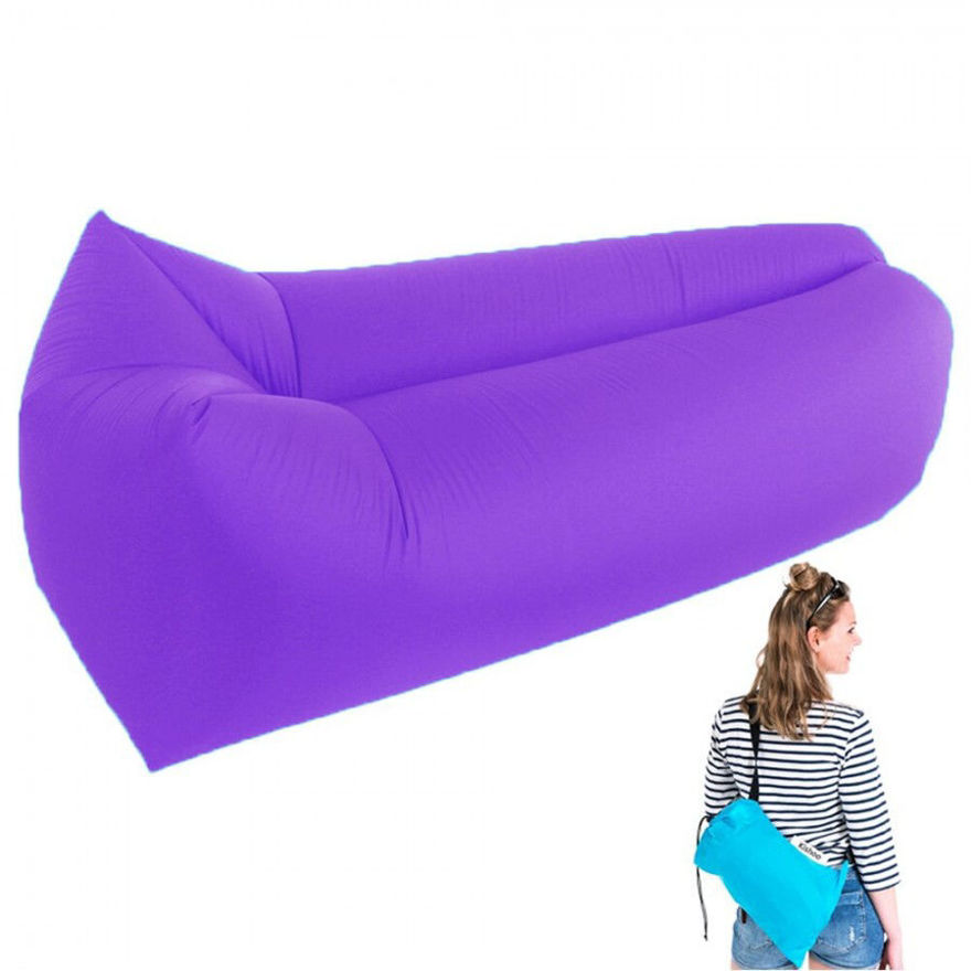 Picture of Knit&FIT Camping Lounger Sofa Inflatable Sleeping Bag Beach Hangout Lazy Air Bed