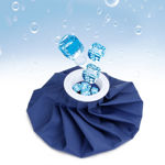 Picture of Ice Bag Ice Pack, 9'' Reusable Ice Bag & Refillable Ice Pack Bag, Cold & Hot Therapy Ice Bag for Injuries Reusable Soft Blue Icepack for Pain Relief Headaches-Hot Therapy