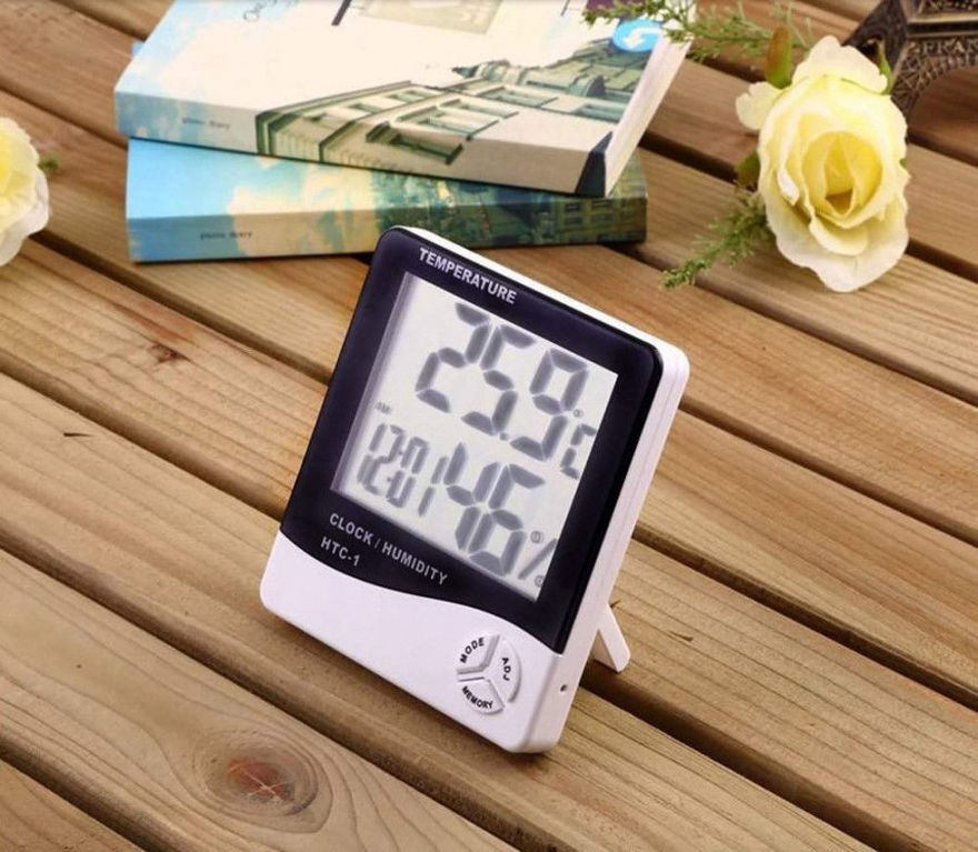 Picture of Humidity Time Display Meter with Alarm Clock, Wall Mount or Table Top