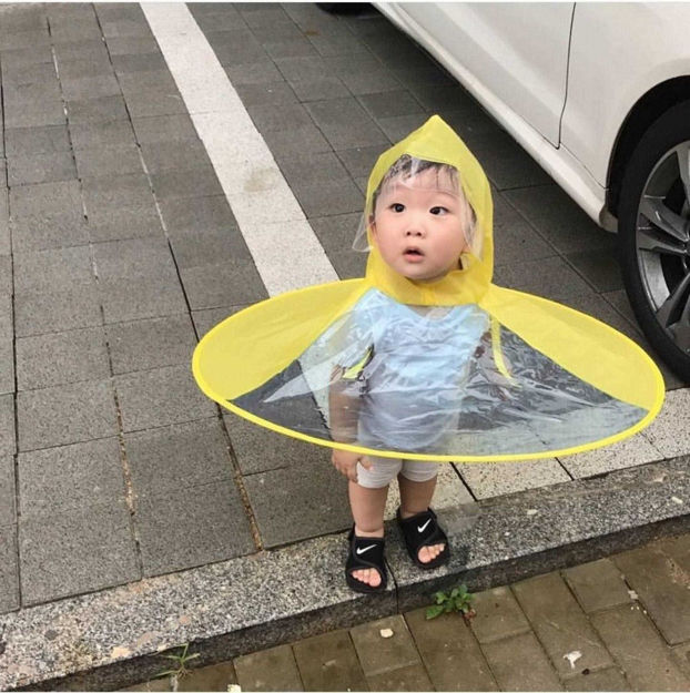Picture of Foldable Waterproof Hands-Free Headwear Umbrella/Rain Hat (Multicolour)