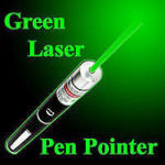 Picture of Green Multipurpose Laser Light Disco Pointer Pen Lazer Beam with Adjustable Antena Cap to Change Project Design for Presentation