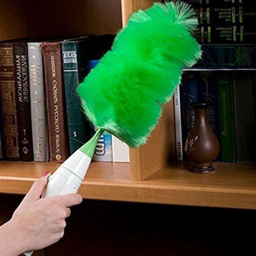 Picture of Hand-Held, Sward Go Dust Electric Feather Spin Motorised Cleaning Brush Set Home Duster Feather Dust Cleaner Brush for Home, Office, Car