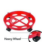 Picture of Gas Cylinder Trolley with Wheels|Gas Trolly|Lpg Cylinder Stand 2 Pcs LPG Cylinder Trolley with Wheels Gas Bottle Trolley LPG Cylinder Stand (27x7.5cm)(Multi Colour) (Medium)