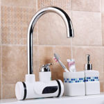 Picture of Digital Instant Electric Water Heater Shower Hot Faucet Tap Home-Kitchen Water Heating Instantaneous Water Heater Tank less for Shower