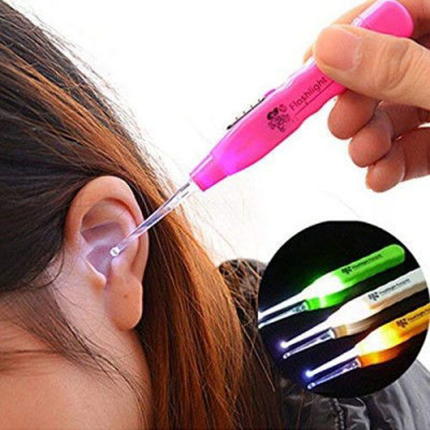 Picture of Safety Ear CleanerEar Pick Wax Remover Earpick - with Flash Light