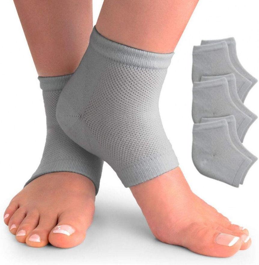 Picture of Pain Relief Cotton Heel Socks Gel Heel Socks for Dry Hard Cracked Heel Pack of (1 Pair Multi-Color)