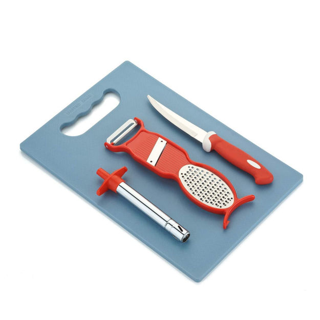 Picture of Cutting Utility Kitchen Tool Gas Lighter, Stainless Steel Knife with Plastic Chopping Board Set