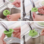 Picture of Plastic Shower Bathroom Face Cartoon Tap Water Saving Device Faucet Sprinkle Head Nozzle (Random Colour, Standard Size)