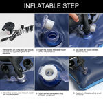 Picture of Inflatable Travel Car Bed Air Sofa with Two Inflatable Pillow and Air Pump for Car Back Seat Inflatable Air Mattress Soft Sleeping Pad Bed for Camping Travel