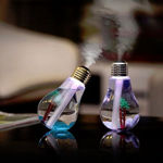 Picture of Bulb Shape Cool Mist Humidifiers, Whisper-Quiet Operation, Night Light Function, Two Spray Mode, Auto Shut-Off for Bedroom, Babies Room, Office, Home