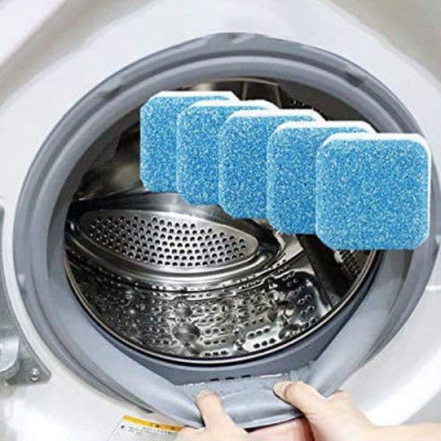 Picture of Washing Machine Deep Cleaner Effervescent Tablet for All Company's Front and Top Load Machine, Descaling Powder Tablet for Perfectly Cleaning of Tub & Drum Stain Remover Washert
