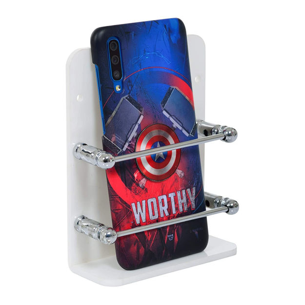 Picture of Acrylic Single Mobile Stand Phone Charging Holder TV AC Remote Stand for Home