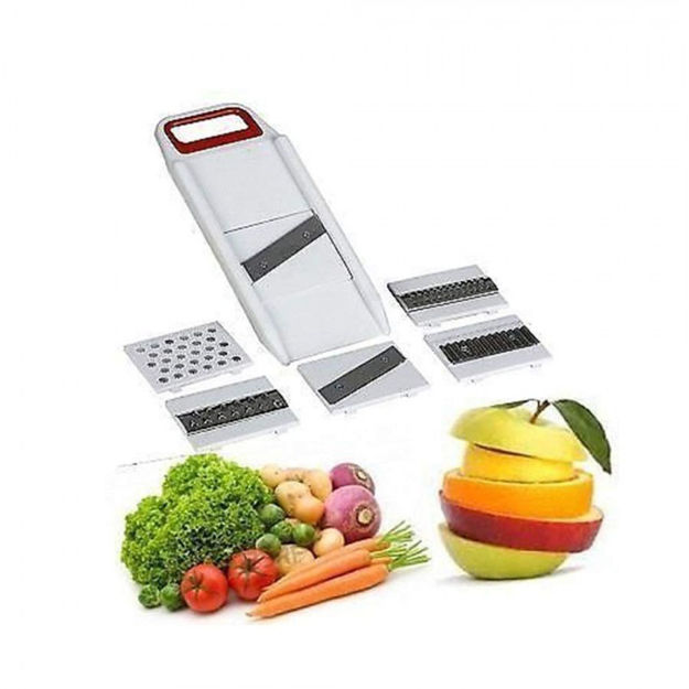 Picture of Multipurpose Unbreakable Plastic 6 in 1 Slicer & Grater, with Detachable Slicers Cutter for Vegetable Cutters Kitchen Dicer