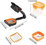 Picture of Vegetable Dicer Chopper 5 in 1 Multi-Function Slicer Vegetable & Fruits Cutter, Dicer Grater & Chopper, Peeler with Container Onion Cutter Kitchen Accessories