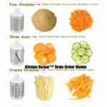 Picture of 4 in 1 Multi-Functional Drum Rotary Vegetable Cutter, Shredder, Grater & Slicer - Slicer Dicer with high Speed Rotary Cylinder