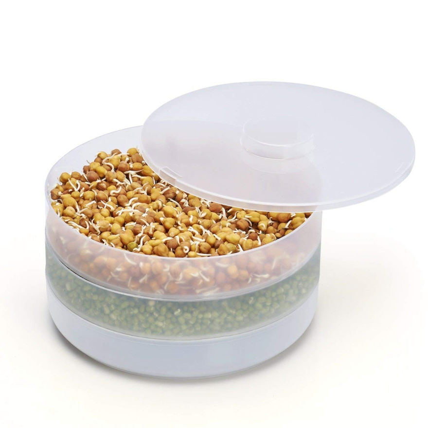 Picture of Plastic Hygienic Sprout Maker with 3 Container Organic Home Making Fresh Sprouts Beans for Living Healthy Life Sprout Maker