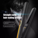 Picture of Ceramic Plates  Hair Straightener Crimper With 120 to 230 Degrees Temperature Control Styling Machine For Women And Men (Black)