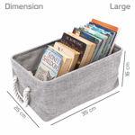 Picture of Eco-Friendly Clothes Storage Bin Foldable Storage Basket Bins Organizer, Set of 3 (Grey)