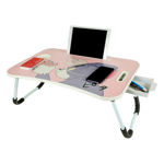 Picture of Multi-Purpose Laptop Table with Drawer, Bed Table, Wooden Foldable Bed Table, Lap Desk, Study Table, Portable Table