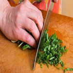Picture of Chopping Board With Knife Set And Scissor 6 Piece Stainless Steel Kitchen Knife Knives Set With Knife Scissor Wooden Chopping Board