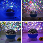 Picture of Moon And Star Master Night Lamp Rotating Projector for Baby Room Light Bedroom Lights Galaxy Projector Kids with USB Wire Colorful Romantic Led Cosmos Sky Starry Bed Light (Multi Color)